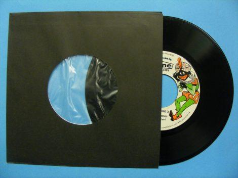 7inch kislemez belső papírtasak antisztatikus fóliával - fekete - 180 x 180mm