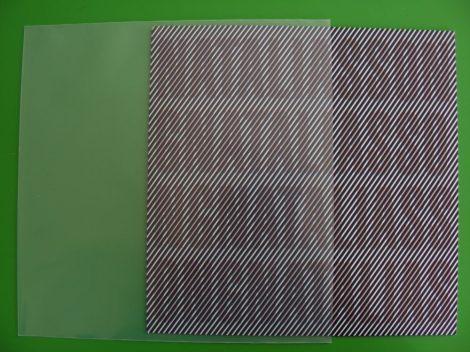 10inch borítóvédő fólia 270x270mm - 150 mikron - (gramofonlemezhez is)