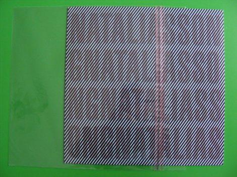 10inch visszazárható borítóvédő fólia - 270x266mm - 30mikron (gramofonlemezekhez is)