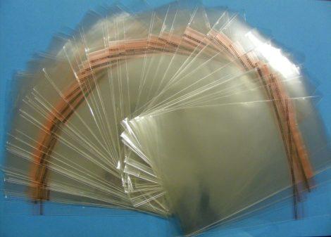Blu-Ray - Zárható védőfólia Blu-Ray, 11mm vastagságú tokokhoz - 148x176mm + 28mm