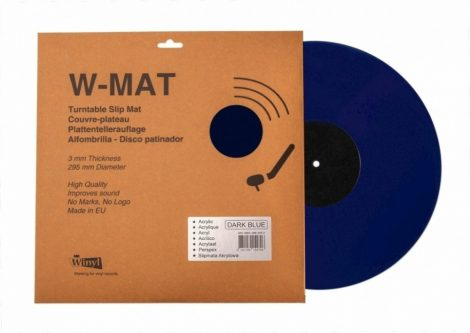 Winyl W-Mat lemezalátét akril sötétkék 3mm