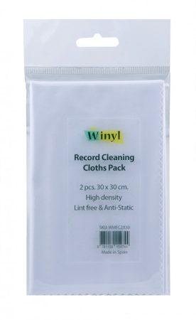 Winyl mikroszálas lemeztörlő kendő 30x30cm - 2db-os csomag