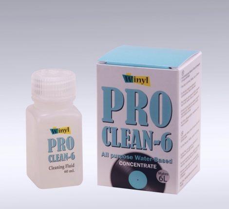 Winyl hanglemez mosófolyadék koncentrátum 60ml Pro Clean 6 (6liter mosófolyadékhoz)