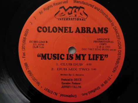 "Colonel Abrams - Music Is My Life 12"" (EX) USA"