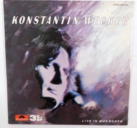 Konstantin Wecker - Live In Muenchen 3xLP (NM/VG+) GER, 1981