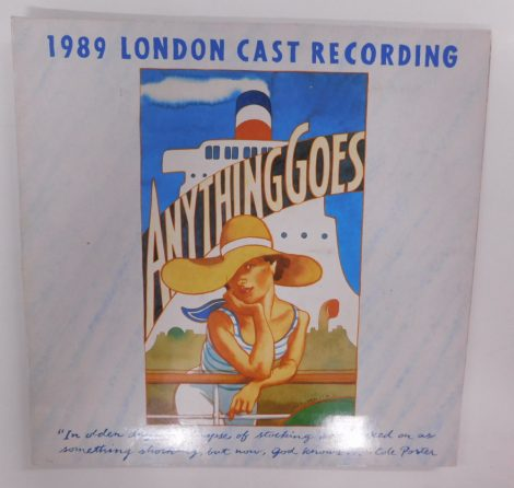 Anything Goes 1989 London Cast Recording LP (VG+/VG) UK, 89